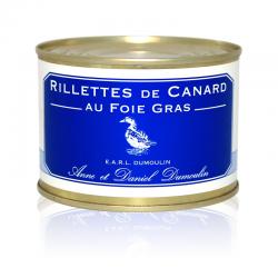 Rillettes de canard au foie gras 130g