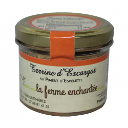 Terrine d'escargot au piment d'Espelette 90g